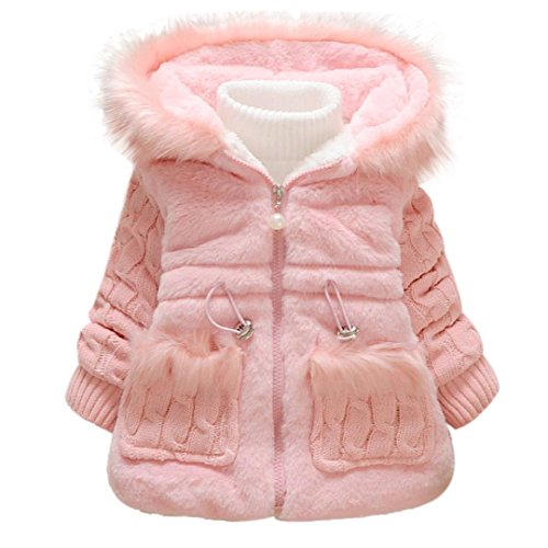 Gotd Baby Girls Kids Outwear Clothes Winter Jacket Coat Snowsuit Clothing (24 Months, Pink)
