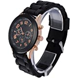 OFTEN Popular Silicone Quartz Men Women Girl Boy Unisex Jelly Wrist Watch