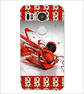 PrintDhaba Music D-4630 Back Case Cover for LG NEXUS 5X (Multi-Coloured)