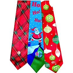 Christmas Musical Ties Pack of 3