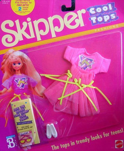Barbie SKIPPER Cool Tops Fashions (1989) - 1