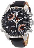 Timex T49867AU – Reloj analógico de caballero de cuarzo con correa de piel negra