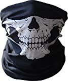 Wowowo® Bicycle Black+white Skull Half Face Mask Ghost Scarf Multi-use Neck Warmer Windproof Mask