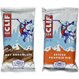 Clif Bar Holiday Variety Pack, 24 Energy Protein Bars (12 Hot Chocolate, 12 Spiced Pumpkin Pie)