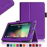 Fintie Premium PU Leather Case Cover for 7 Inch Android Tablet inclu. Dragon Touch Y88X / Y88 / Q88 A13 7 Inch, NeuTab N7 Pro 7, Alldaymall A88X / A88S 7 Inch, Chromo Inc 7 Tablet, Trimeo 7 inch, IRULU eXpro Mini 7 inch, iRulu X1s HD TFT Display 7 inch, IRULU X1a 7, KingPad K70 7, ProntoTec Axius Series Q9 / Q9S 7 Inch, ProntoTec 7 Android 4.4 KitKat Tablet PC, LENOTAB 7, rotor 7, Osgar Ultrathin 7 inch, Tagital T7X 7, Gooweel Q8hd 7'' A33, Yuntab 8GB Y88 Allwinner A33 7 inch tablet pc (PLEASE Check the Complete Compatible Tablet List under Product Description), Violet