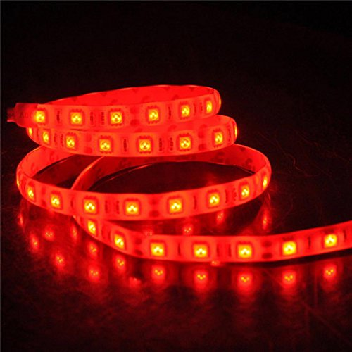 Happy Hours® Super Bright Red 1-30M 3528 Smd 120 Leds/M Led Strips Light Non-Waterproof + 12V Dc Power Adapter 9 Meters