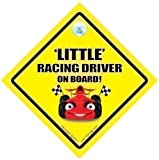 Little Racing Driver On Board Car Sign Little Racing Driver Baby On Board Sign Baby on Board Decal Bumper Sticker Baby Sign Baby Car Sign Novelty Car Sign Racing Car Sign