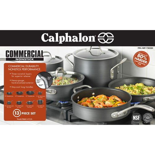 Calphalon 13-pc Hard Anodized Cookware Set (13 Pc Cookware compare prices)