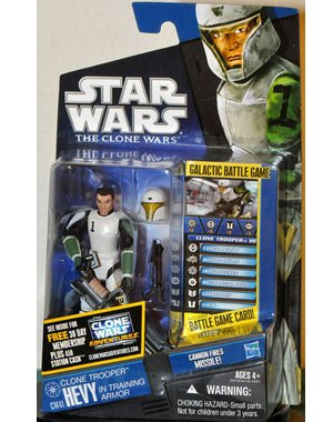 Buy Low Price Hasbro Star Wars 2011 Clone Wars Animated Action Figure CW No. 41 Hevy Clone Trooper in Training Armor (B004CLLOIK)