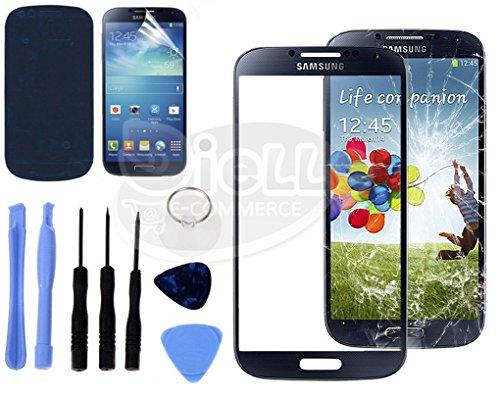 VETRO VETRINO per SAMSUNG GALAXY S4 I9505 NERO VETRINO TOUCH SCREEN SCHERMO LCD **SPEDIZIONE CON ...