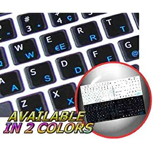 MAC SWISS MULTILINGUAL KEYBOARD STICKER WHITE BACKGROUND FOR DESKTOP, LAPTOP AND NOTEBOOK 4KEYBOARD