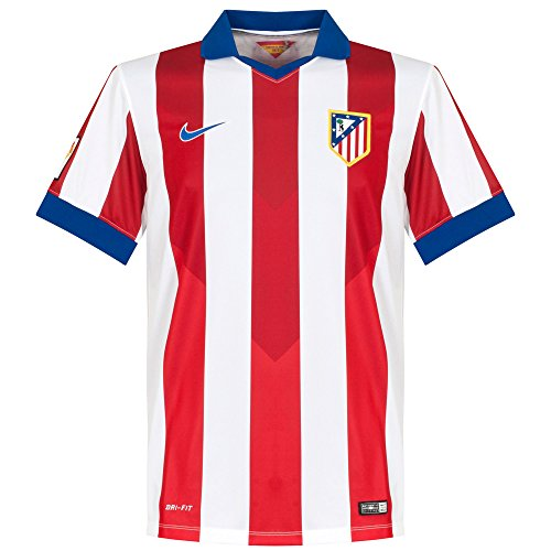 Nike Atlético De Madrid Short-Sleeve Home Stadium Jersey [Varsity Red/Football White/Drenched Blue] (M)