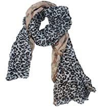 niceeshop(TM) New Fashion Chain Leopard Scarf,Pink