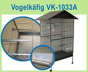 AJ's pets VK-1033A Vogelvoliere Vogelkäfig Voliere Käfig Vogelhaus Vogel Tierkäfig