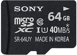 Sony 64GB Class 10 Micro SDHC Card