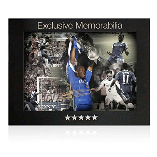 Didier Drogba Signed Chelsea Soccer Photo: Champions League Hero. In Gift Box front-696010