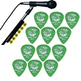 Dunlop Music Stand Pickholder w/12 Pack of Picks By The Pound Tour-Pix Guitar Picks .88mm