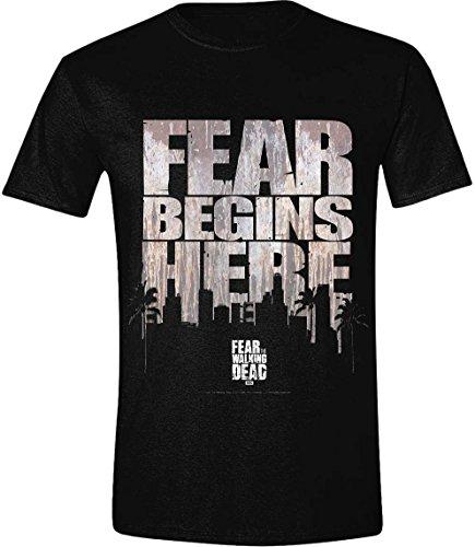 Fear The Walking Dead Maglia T Shirt Fear Begins Here Size L