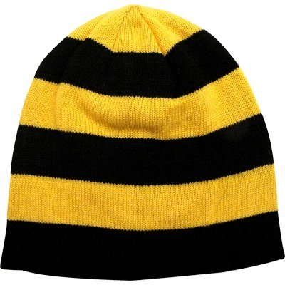 Winter Hat Black & Gold Stripe at SteelerMania