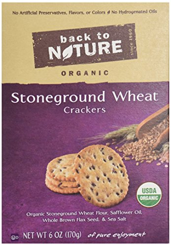 Back To Nature Crackers, Organic Stoneground Wheat, 6 Ounce (Wheat Cheese Crackers compare prices)