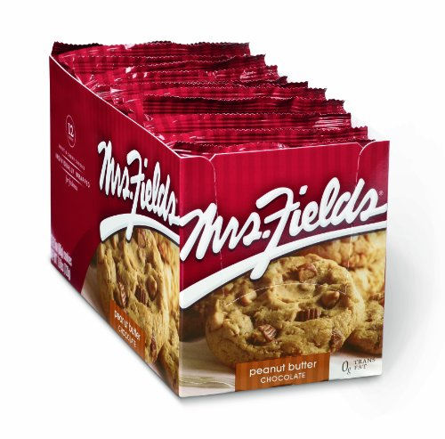 Mrs. Fields Cookies, Peanut Butter Chocolate, 12-Count Cookies (Pack of 2)