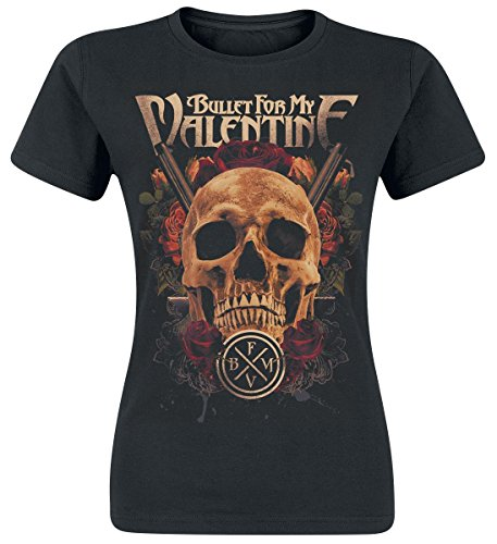 Bullet For My Valentine Pistol Skull Maglia donna nero S