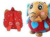 La-Loria-Kinderrucksack-Plsch-Elfi-der-Elefant-in-Rot-Kindergarten-Rucksack