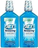ACT Anticavity Fluoride Mouthwash, Cool Splash Mint - 33.8 oz - 2 pk