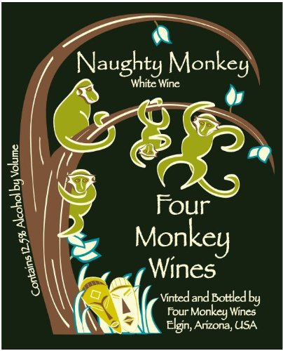 Nv Four Monkey Wines Naughty Monkey Blend - White 750 Ml