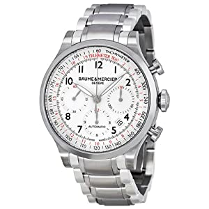 Baume and Mercier Capeland White Dial Chronograph Mens Watch MOA10061 from Baume et Mercier