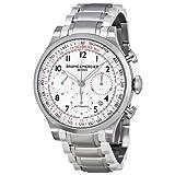 Baume and Mercier Capeland White Dial Chronograph Mens Watch 10061
