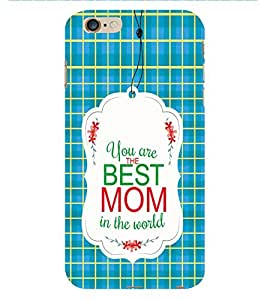 Fiobs Best Mom In The World Phone Back Case Cover for Apple iPhone 6s Plus