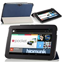 MoKo Ultra Slim Lightweight Smart-shell Stand Case For Google Nexus 10 Inch Tablet By Samsung INDIGO (with Smart...