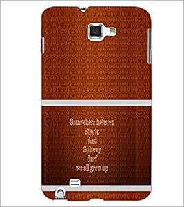 PrintDhaba Quote D-1326 Back Case Cover for SAMSUNG GALAXY NOTE 1 (Multi-Coloured)