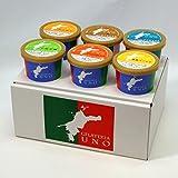 ジェラート専門店ジェラテリアUNO 愛媛産ジェラート6種類の詰め合わせ アイスクリーム 6個セット お歳暮 のし メッセージカード対応