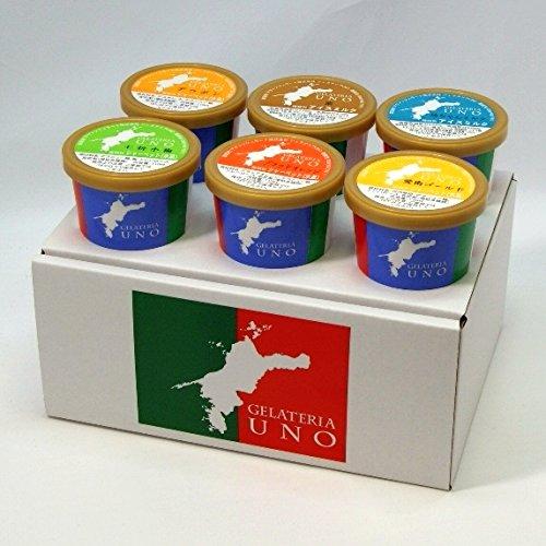 ジェラート専門店ジェラテリアUNO 愛媛産ジェラート6種類の詰め合わせ アイスクリーム 6個セット