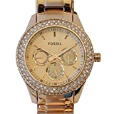 Fossil ES3003 – Reloj analógico de cuarzo para mujer con correa de acero inoxidable, color dorado
