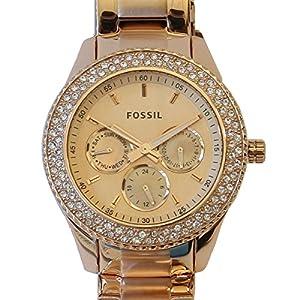 Fossil - ES3003 - Montre Femme - Quartz Analogique - Aiguilles lumineuses - Bracelet Acier Inoxydable Doré