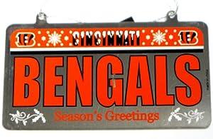 Cincinnati Bengals NFL License Plate Christmas Ornament