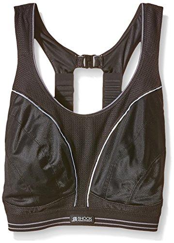 Shock Absorber Women's Run Sports Bra B5044 Black/Silver Sports Bra 38FF