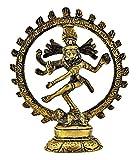 """Statuary From India 1 x Shiva (Natraj) Brass Statue, 4"""" L x 4"""" W"""