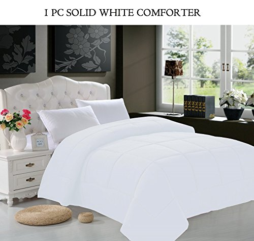 Elegant Comfort® Luxury Goose Down Alternative Double Fill Comforter (Duvet Insert), Full Size, White