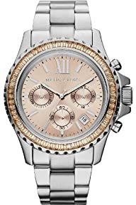 Michael Kors Everest Chronograph Gold Dial Stainless Steel Womens Watch MK5870