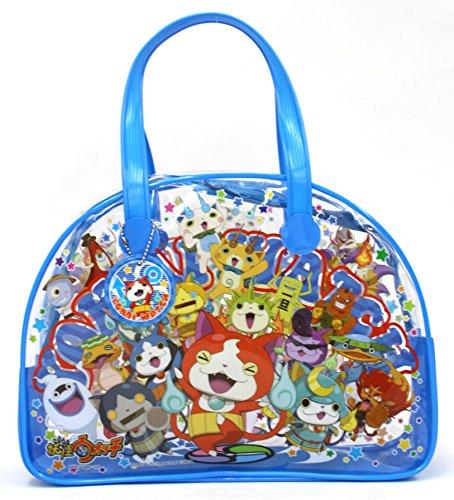 【キッズビーチバッグ】ボストンバッグ、プールバッグ、子供用 (妖怪ウォッチ青059274)
