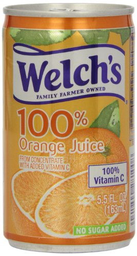 Welch's 100% Juice, Orange, 5.5-Ounce Cans (Pack of 48) (Single Serve Orange Juice compare prices)