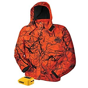 DEWALT DCHJ063B-S 20V/12V MAX Blaze Camo Heated Jacket and Adaptor, Small