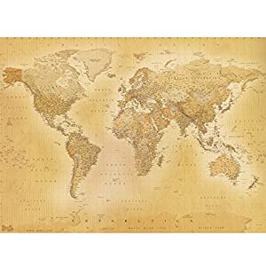 Vintage Old World Map Wall Mural from SHH Interiors