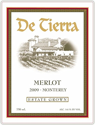 2009 De Tierra Estate Merlot 750 Ml