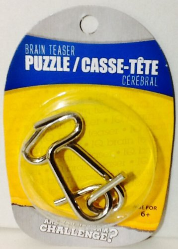 Disentanglement Puzzle ~ Physical Brain Teaser ~ Steel Metal ~ 'S-Curve' ~ Difficulty Level 1 Beginner