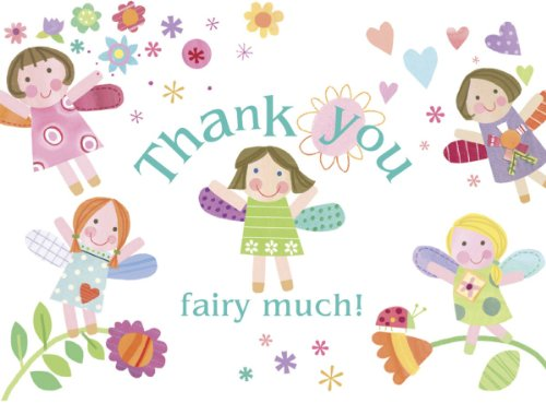 C. R. Gibson Thank You Notes, Fairies front-1024106